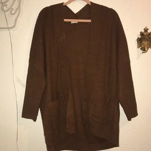 Brown, baggy style sweater